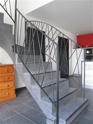 Réalisation de rampes d'escalier à Teillé 44440.