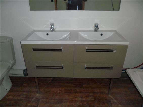 Création d'une salle de bain neuve sur Rouans 44640.