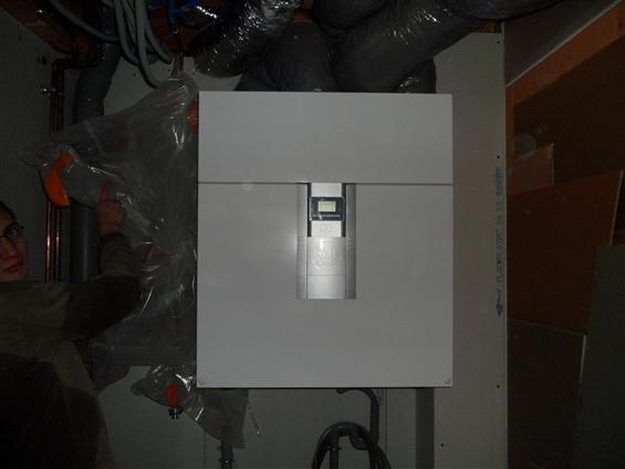 Installation VMC double flux dans une maison BBC à Bouguenais 44340.